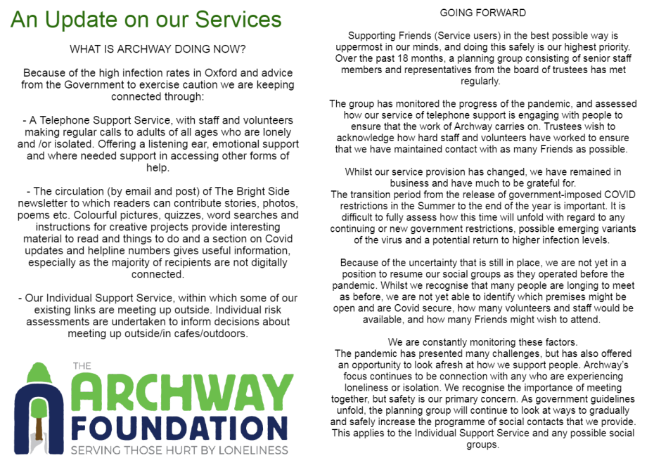 An Update on Our Services 260821 (2)